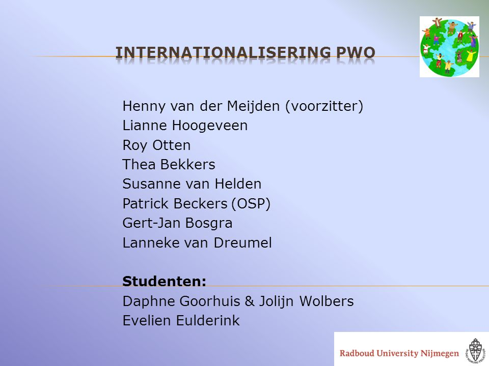 Internationalisering PWO