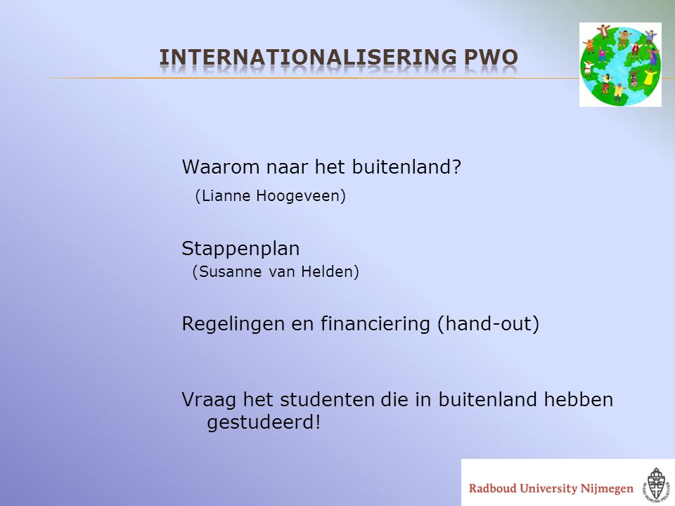 Internationalisering PWO