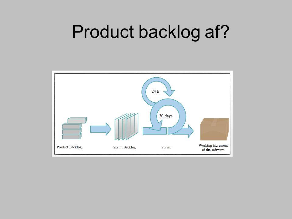 Product backlog af