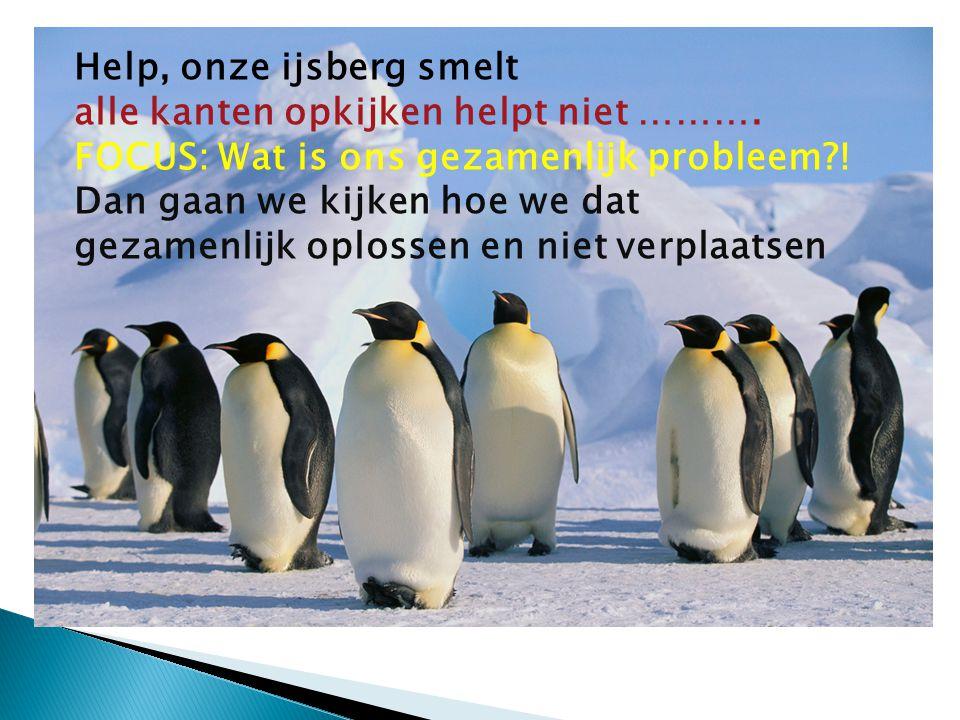 Help, onze ijsberg smelt