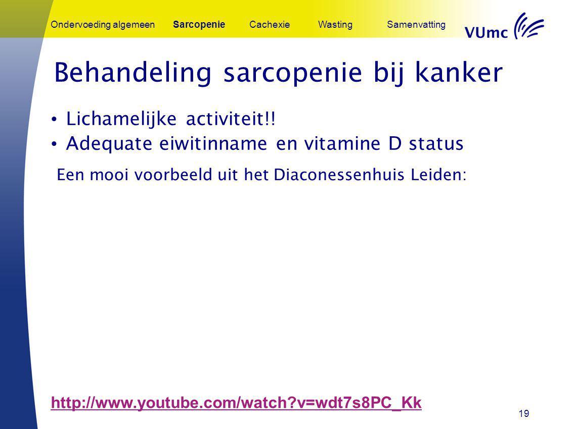Behandeling sarcopenie bij kanker