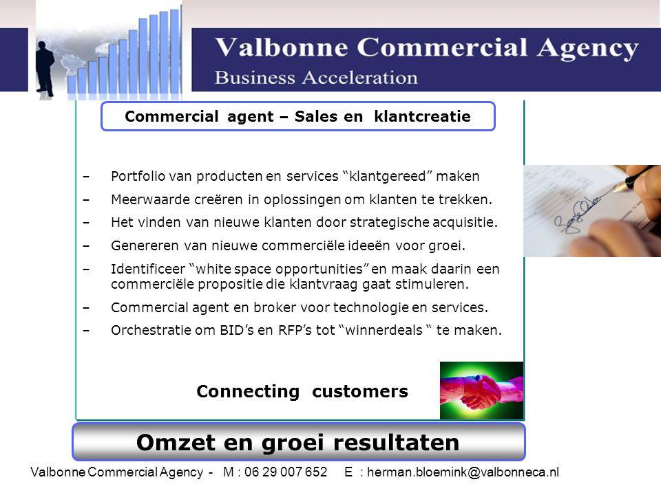 Commercial agent – Sales en klantcreatie Omzet en groei resultaten