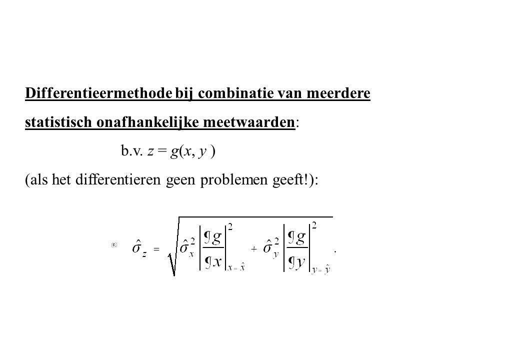 Differentieermethode bij combinatie van meerdere