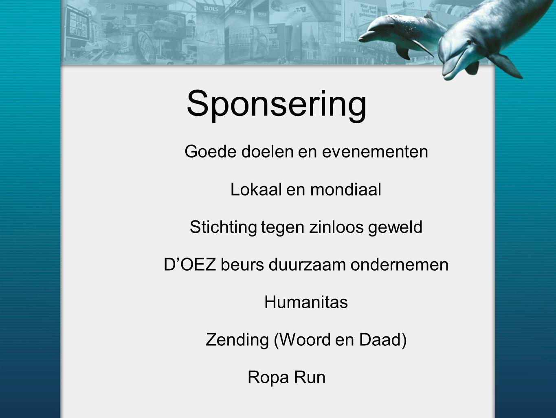 Sponsering Goede doelen en evenementen Lokaal en mondiaal