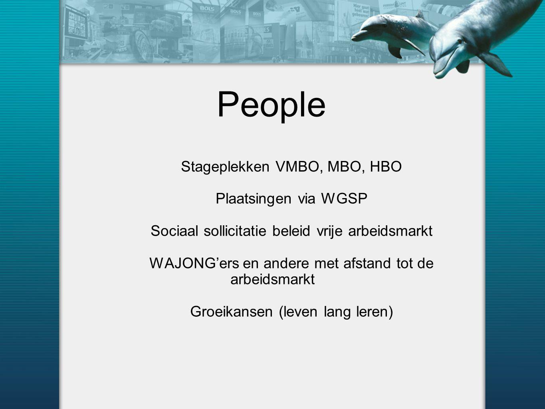 People Stageplekken VMBO, MBO, HBO Plaatsingen via WGSP