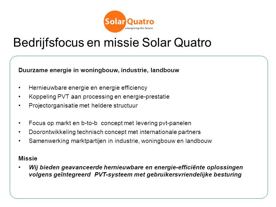 Bedrijfsfocus en missie Solar Quatro