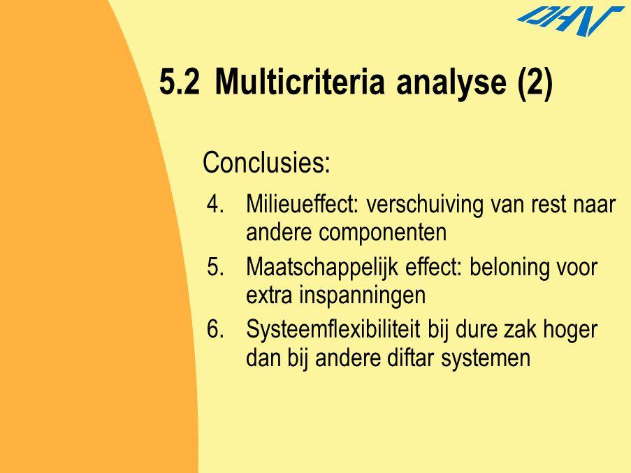 5.2 Multicriteria analyse (2)