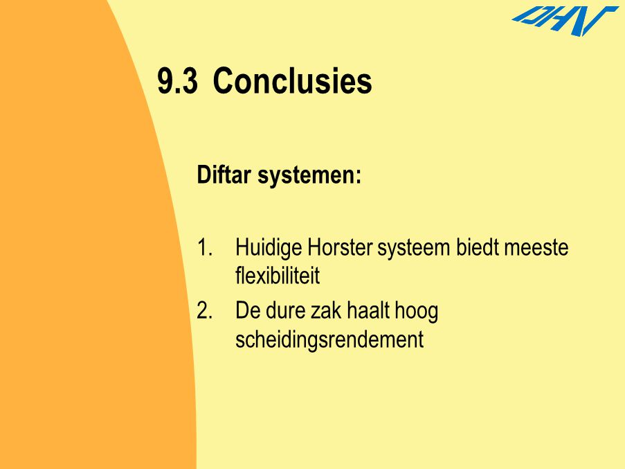 9.3 Conclusies Diftar systemen:
