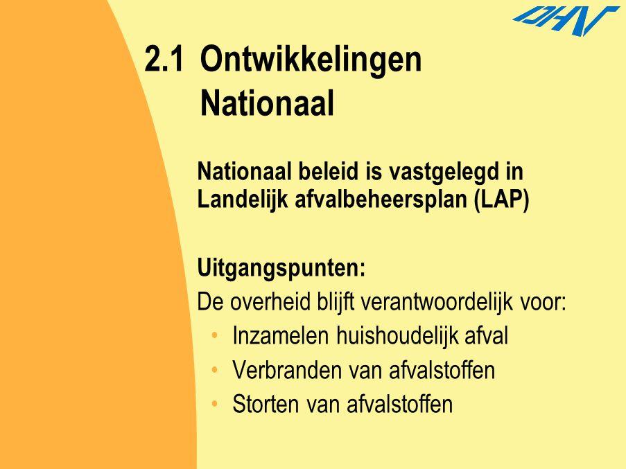 2.1 Ontwikkelingen Nationaal