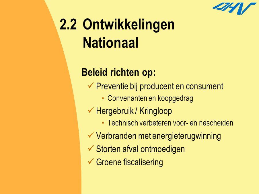 2.2 Ontwikkelingen Nationaal