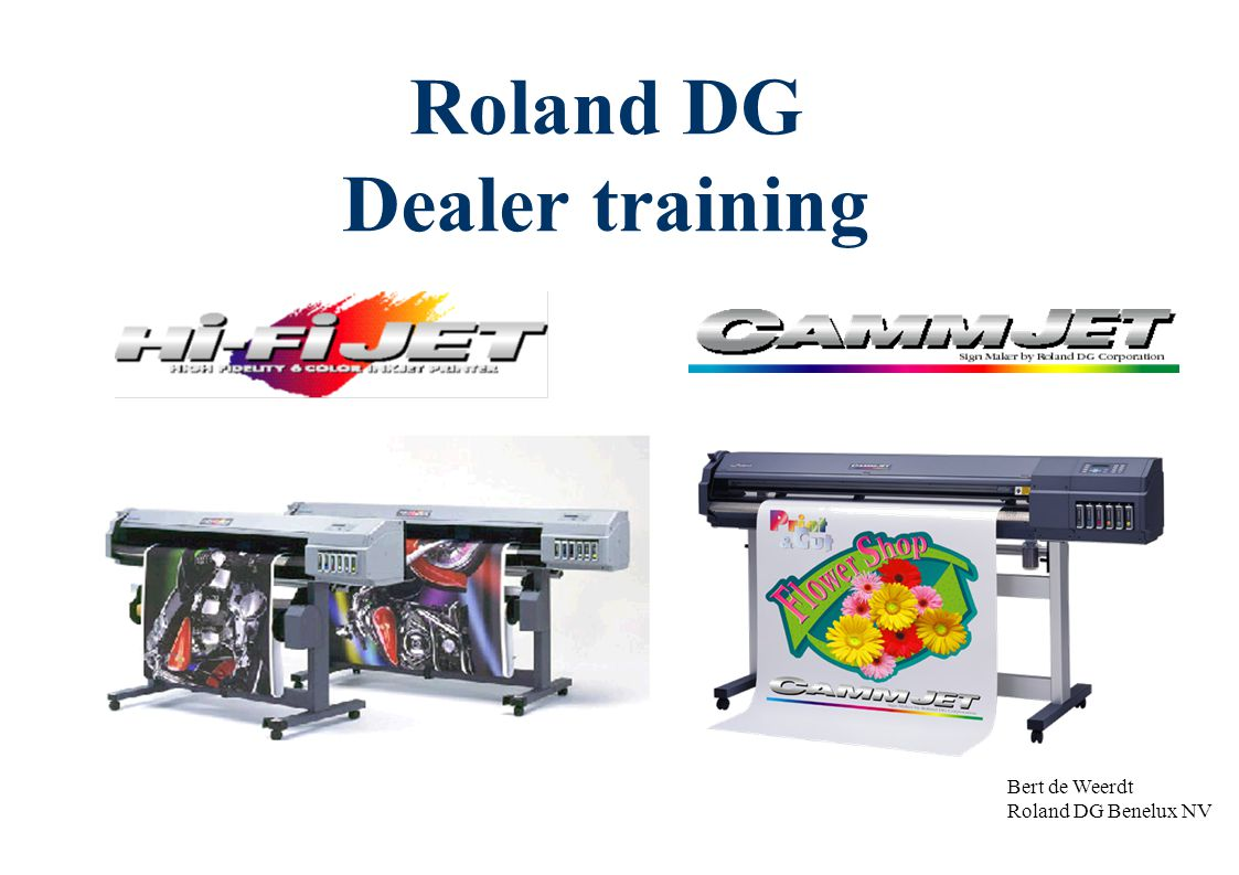 Roland DG Dealer training