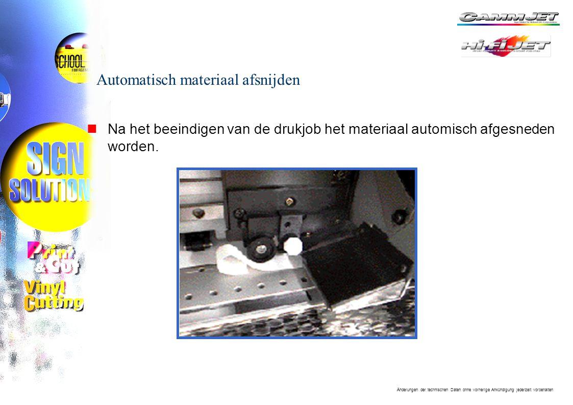 Automatisch materiaal afsnijden