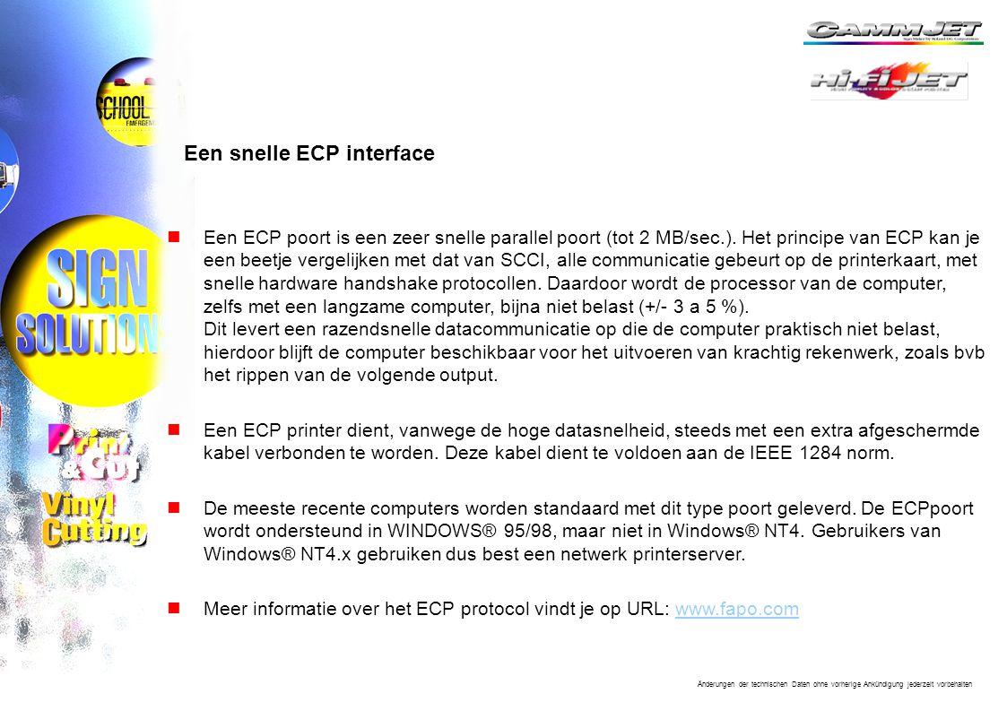 Een snelle ECP interface