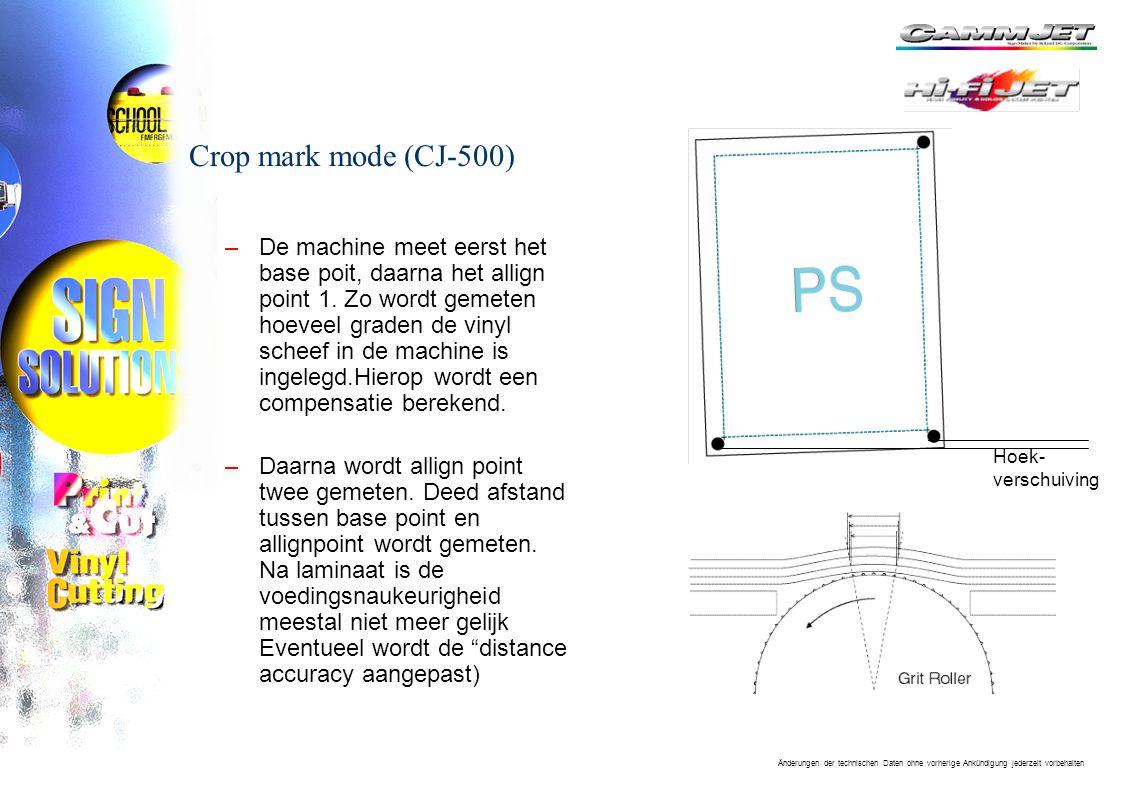 Crop mark mode (CJ-500)