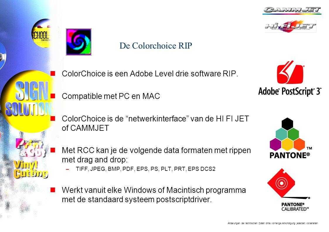 De Colorchoice RIP ColorChoice is een Adobe Level drie software RIP.