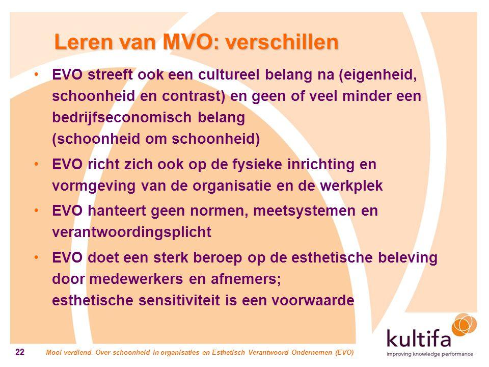 Leren van MVO: verschillen