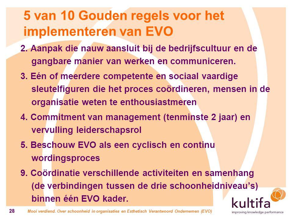 5 van 10 Gouden regels voor het implementeren van EVO