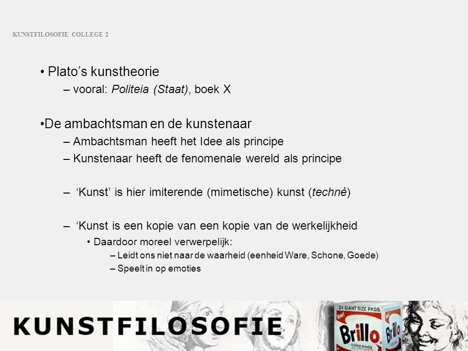 KUNSTFILOSOFIE COLLEGE 2