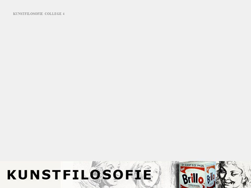 KUNSTFILOSOFIE COLLEGE 4