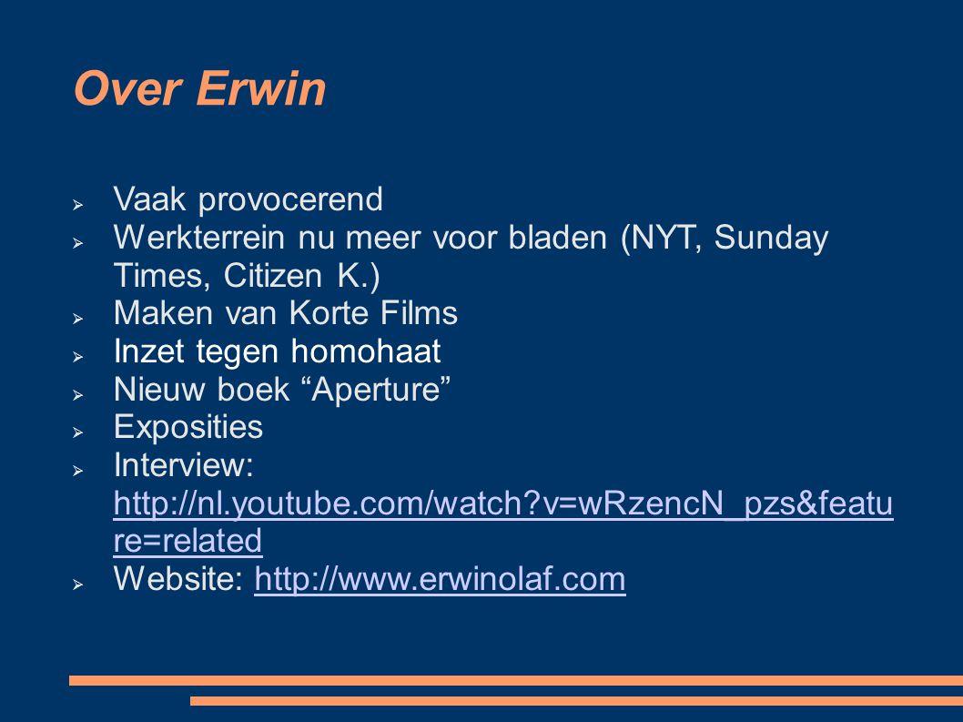 Over Erwin Vaak provocerend