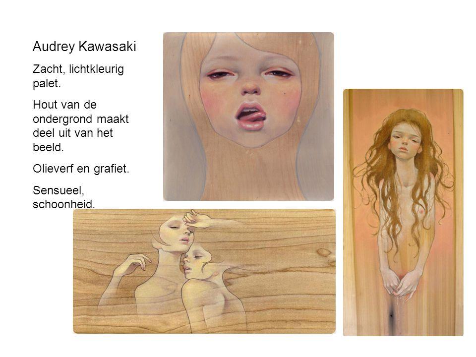 Audrey Kawasaki Zacht, lichtkleurig palet.