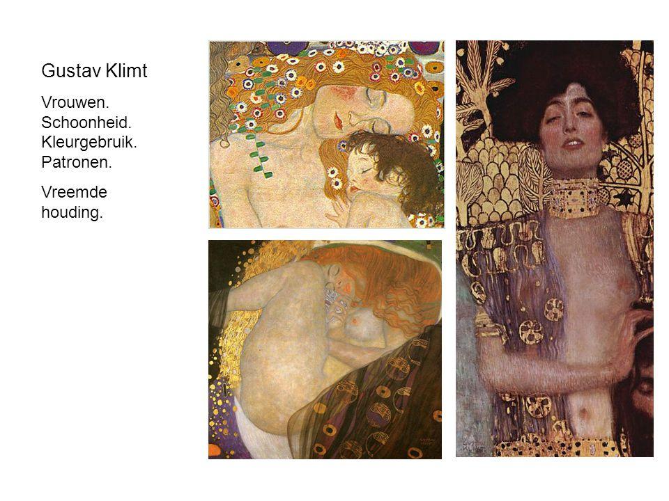 Gustav Klimt Vrouwen. Schoonheid. Kleurgebruik. Patronen.