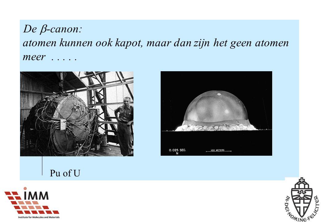 De -canon: atomen kunnen ook kapot, maar dan zijn het geen atomen meer . . . . .