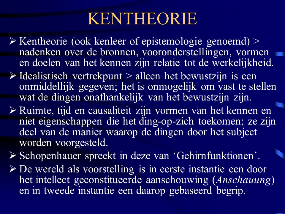KENTHEORIE