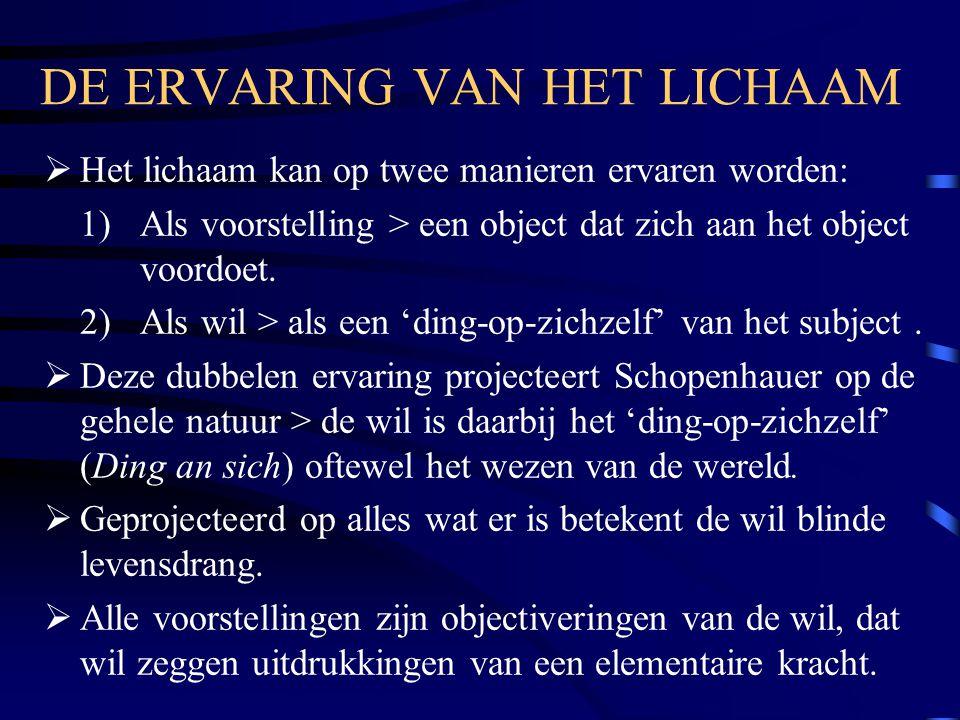 DE ERVARING VAN HET LICHAAM