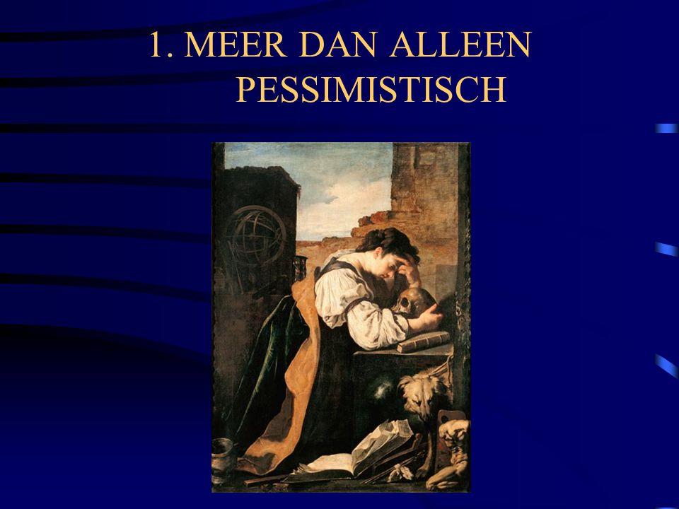 1. MEER DAN ALLEEN PESSIMISTISCH