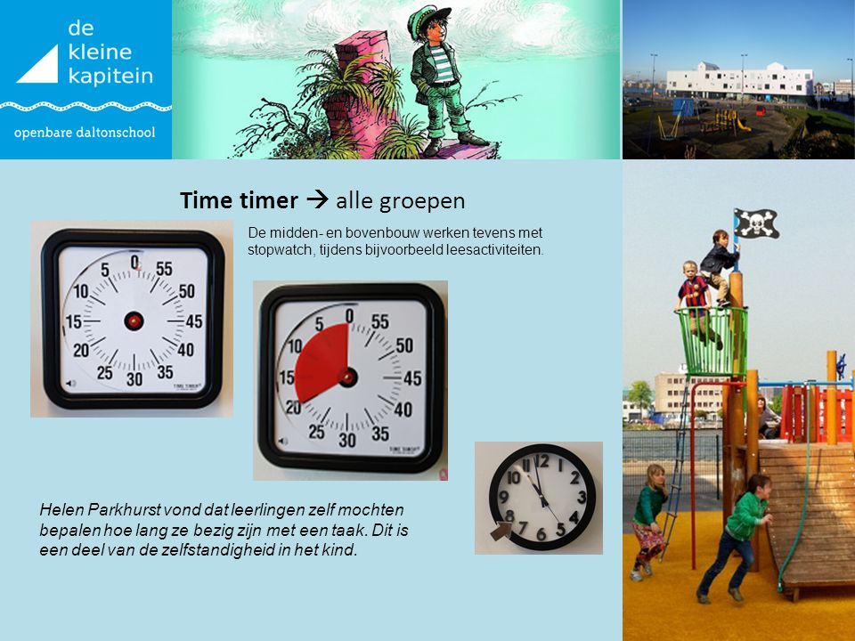 Time timer  alle groepen