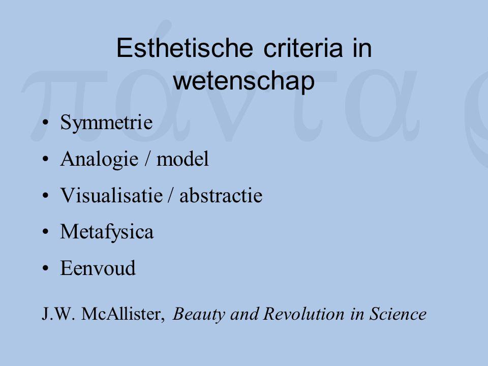 Esthetische criteria in wetenschap