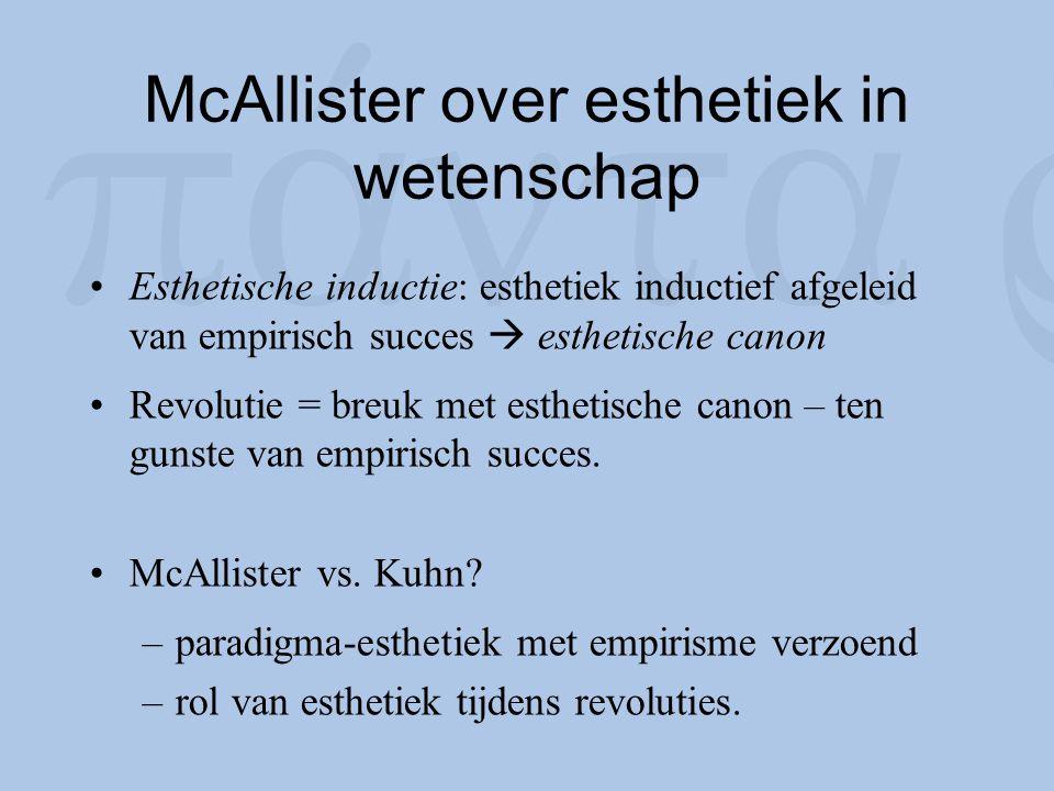 McAllister over esthetiek in wetenschap