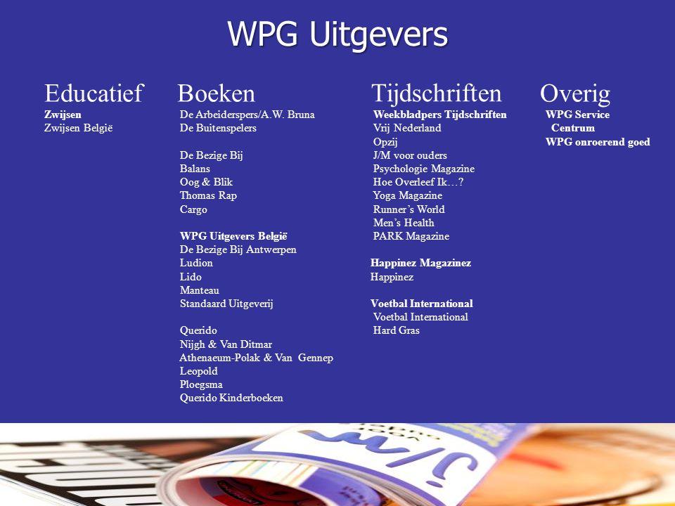 WPG Uitgevers Educatief Boeken Tijdschriften Overig Zwijsen