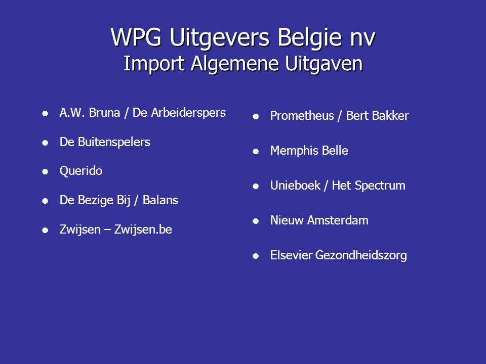 WPG Uitgevers Belgie nv Import Algemene Uitgaven