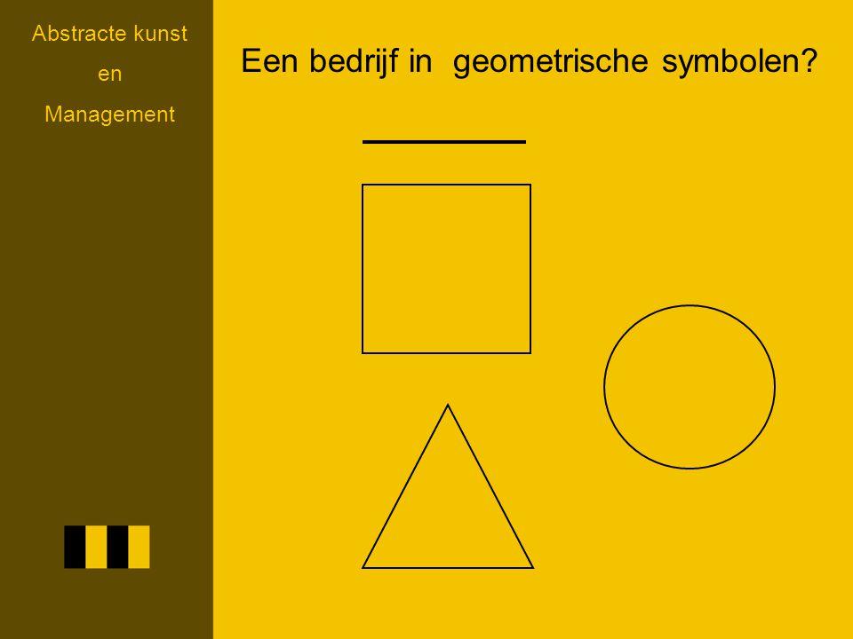 Een bedrijf in geometrische symbolen