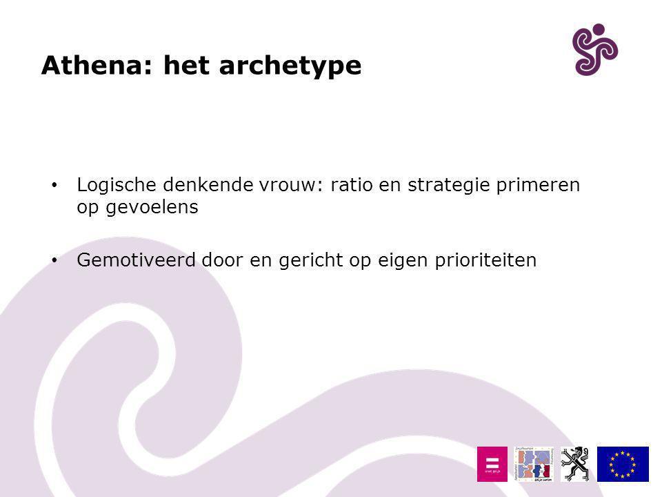 Athena: het archetype Logische denkende vrouw: ratio en strategie primeren op gevoelens.