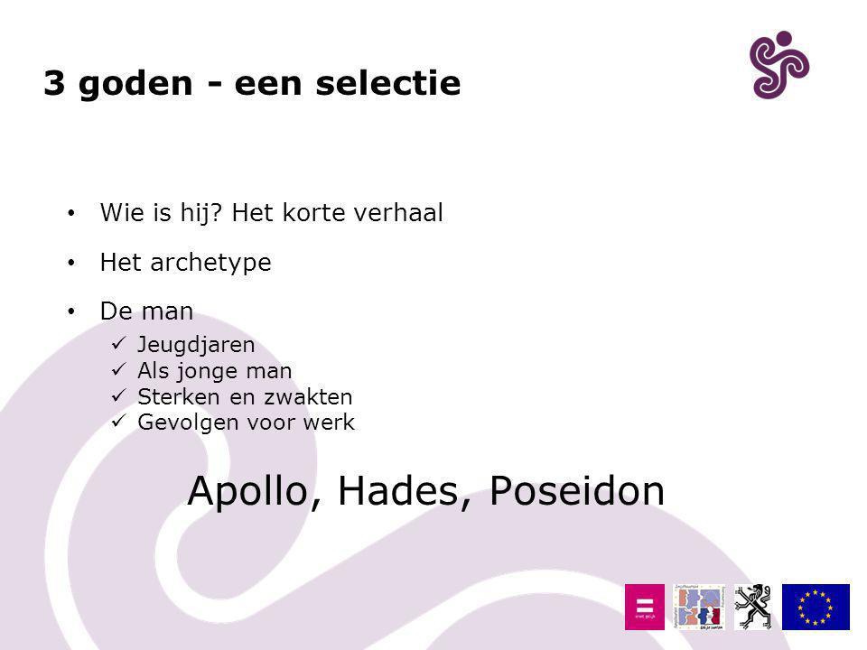 Apollo, Hades, Poseidon 3 goden - een selectie
