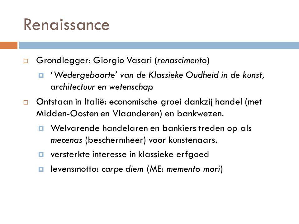 Renaissance Grondlegger: Giorgio Vasari (renascimento)