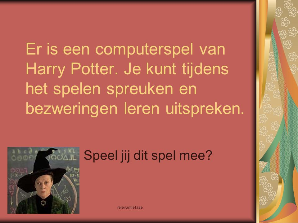 Er is een computerspel van Harry Potter
