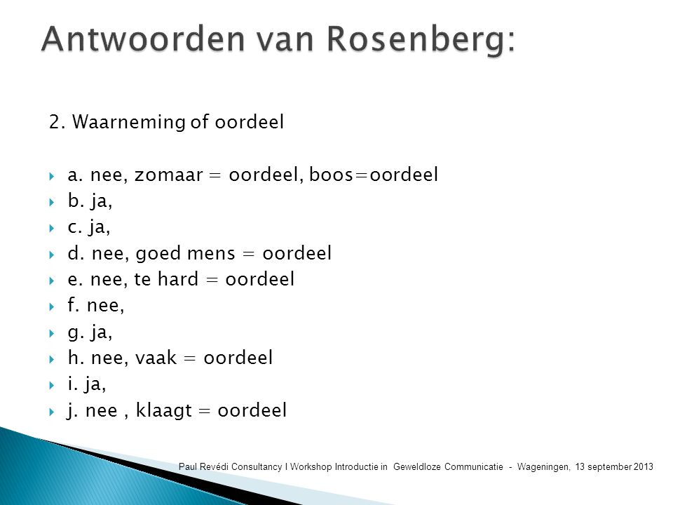 Antwoorden van Rosenberg: