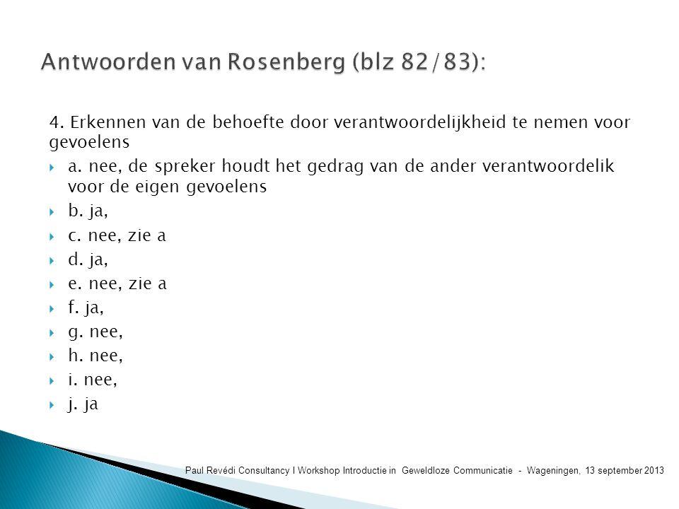 Antwoorden van Rosenberg (blz 82/83):