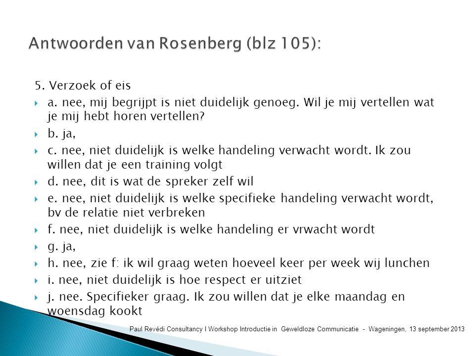 Antwoorden van Rosenberg (blz 105):