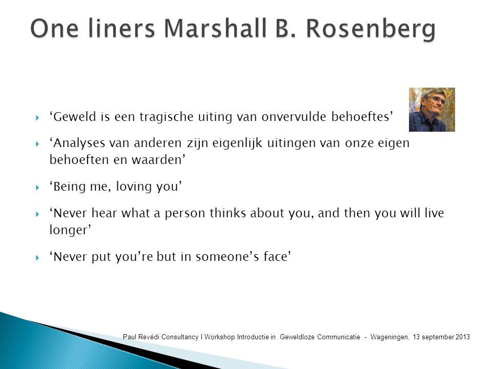 One liners Marshall B. Rosenberg