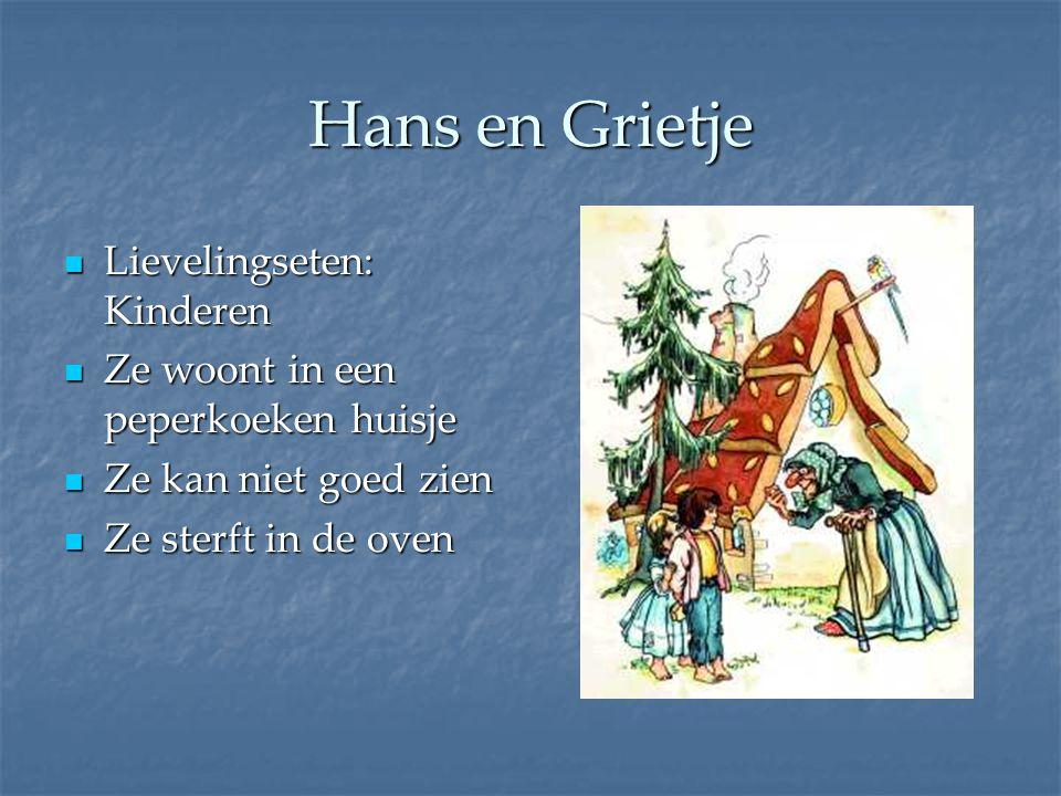 Hans en Grietje Lievelingseten: Kinderen