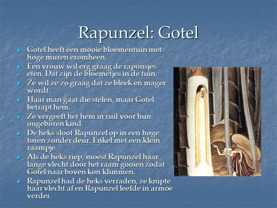 Rapunzel: Gotel Gotel heeft een mooie bloementuin met hoge muren eromheen.