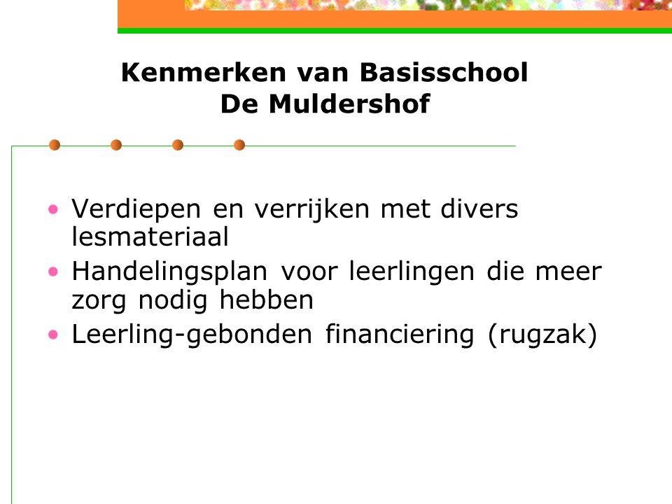 Kenmerken van Basisschool De Muldershof