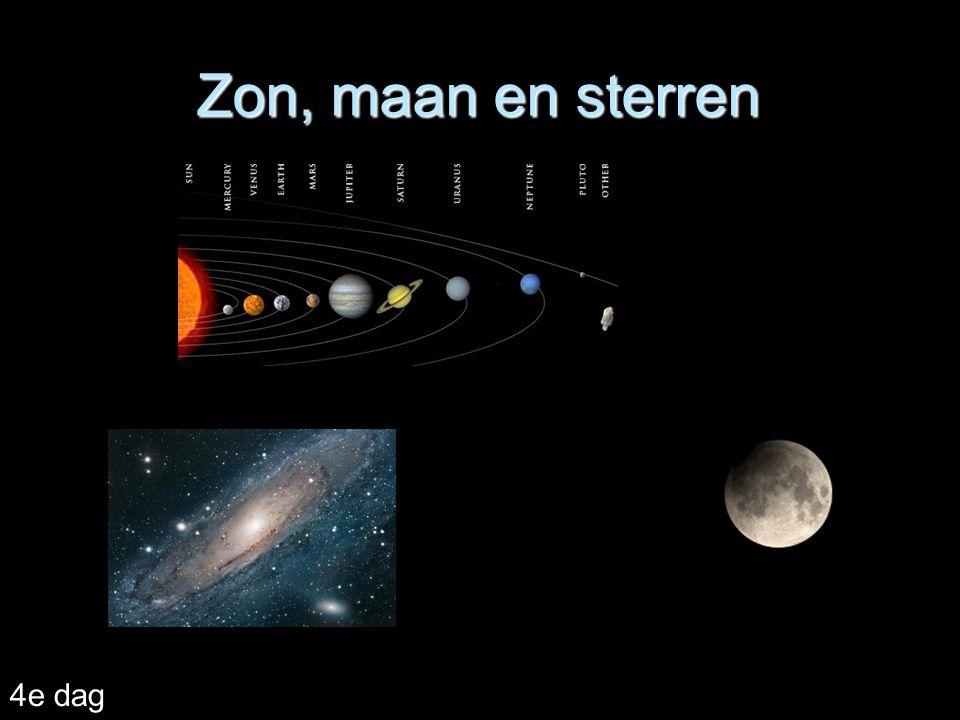 Zon, maan en sterren 4e dag