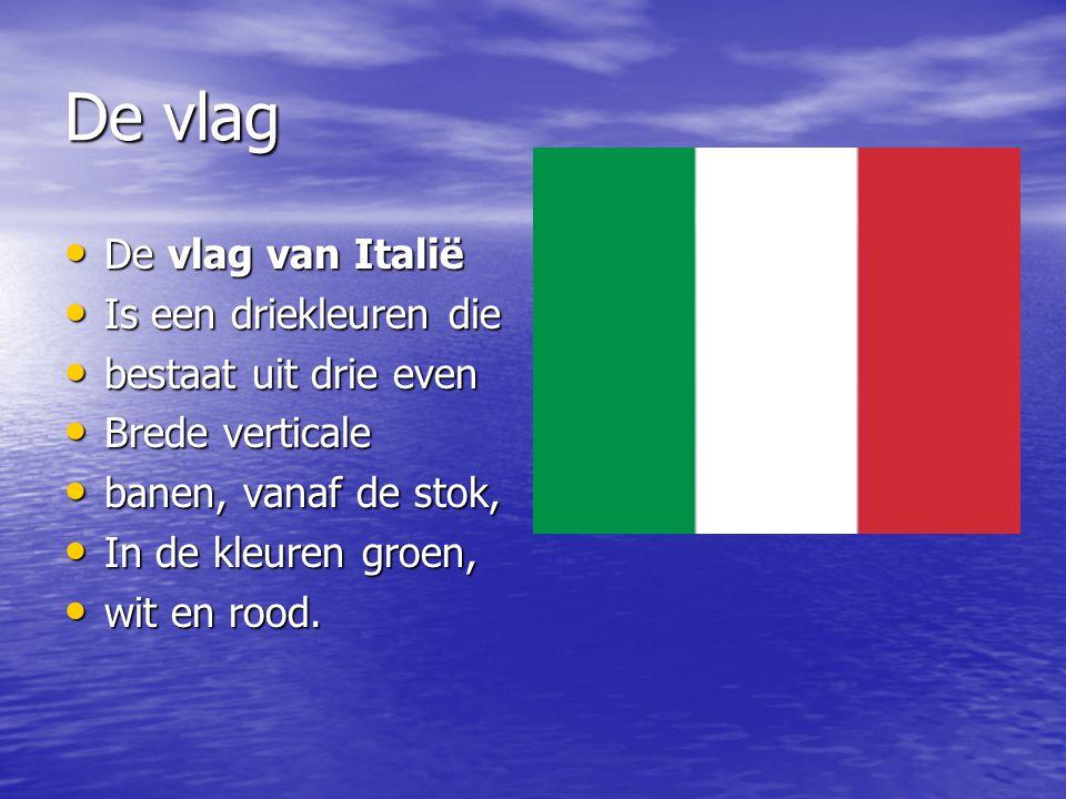 De vlag De vlag van Italië Is een driekleuren die