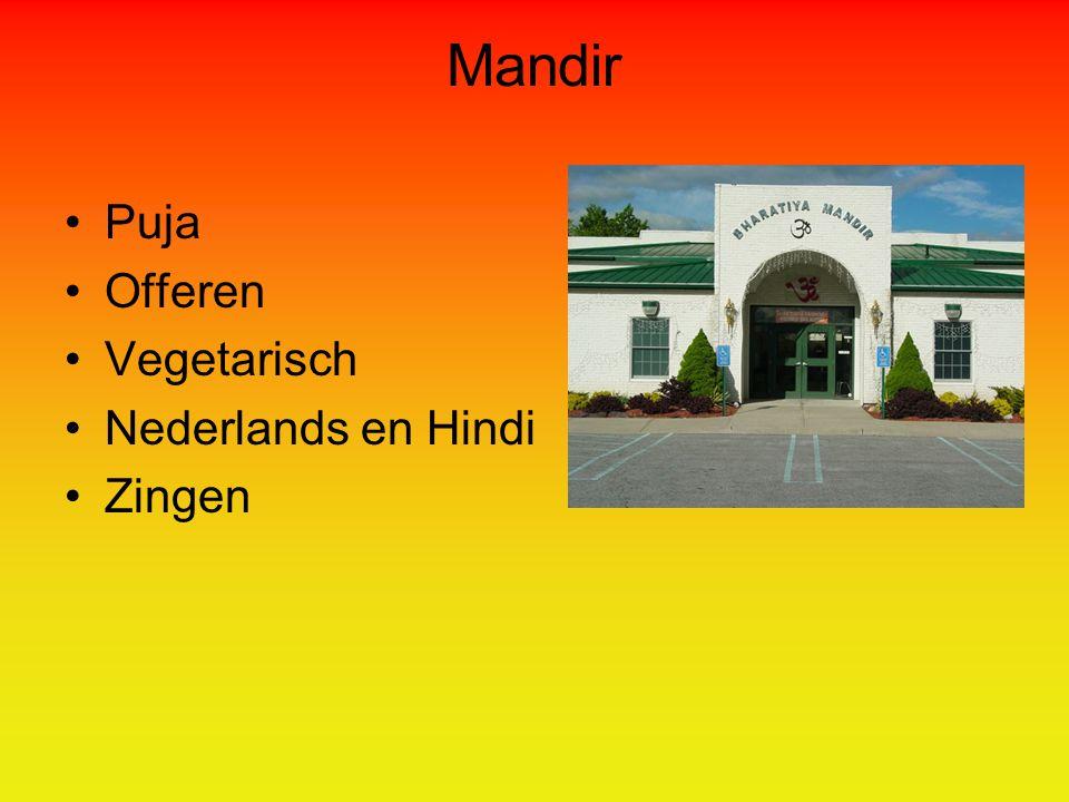 Mandir Puja Offeren Vegetarisch Nederlands en Hindi Zingen